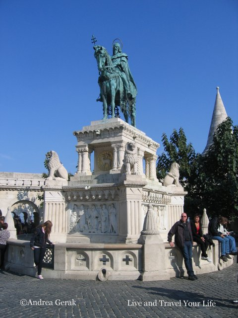St Stephen's statue in Budapest,
