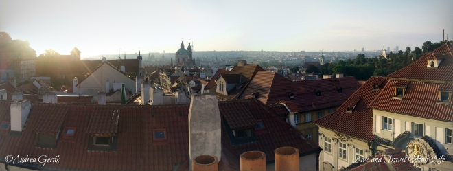 Early morning panorama view over Prague, from Mala strana. Photo: Andrea Gerak