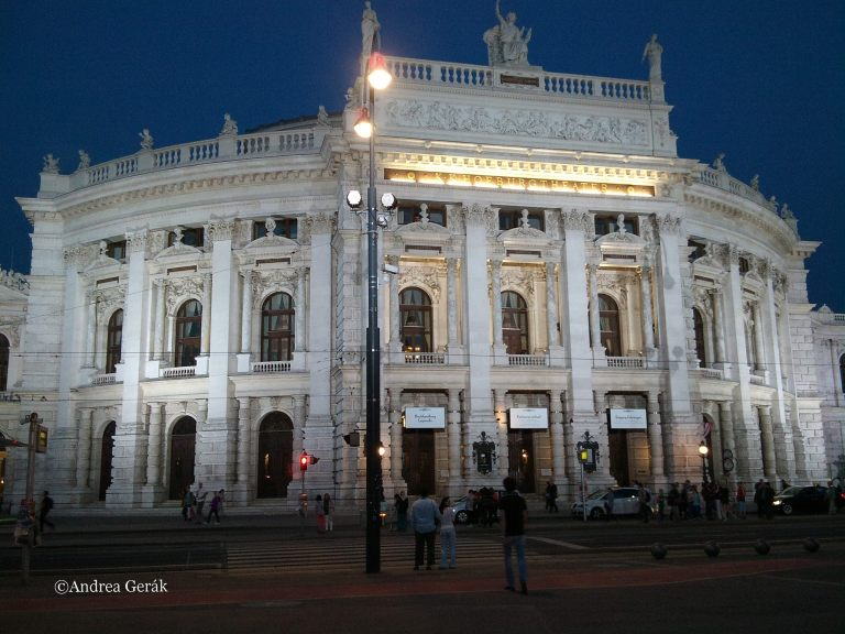Burgtheater Wien by night. Photo: Andrea Gerak