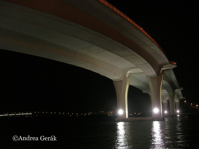 Clearwater Causeway Bridge by Night